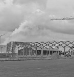 Tuindeco heeft met de bouw van de hal begonnen